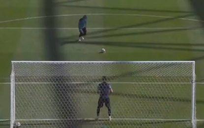 Ederson Moraes já ensaia a batida de penaltis para a final da Champions… (VIDEO)