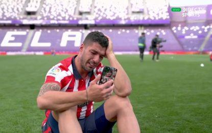 Vídeo: A emoção de Suárez após ser o herói do Atlético no jogo do título