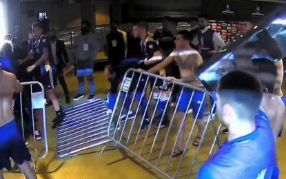 Vídeo: Surreal! Jogadores do Boca tentaram invadir balneário do Atlético Mineiro depois da eliminação na Libertadores