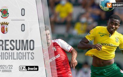 Highlights   Resumo: Paços de Ferreira 0-0 SC Braga (Liga 21/22 #5)
