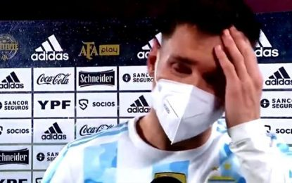 Vídeo: Messi em lágrimas