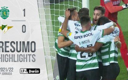 Highlights   Resumo: Sporting 1-0 Moreirense (Liga 21/22 #9)